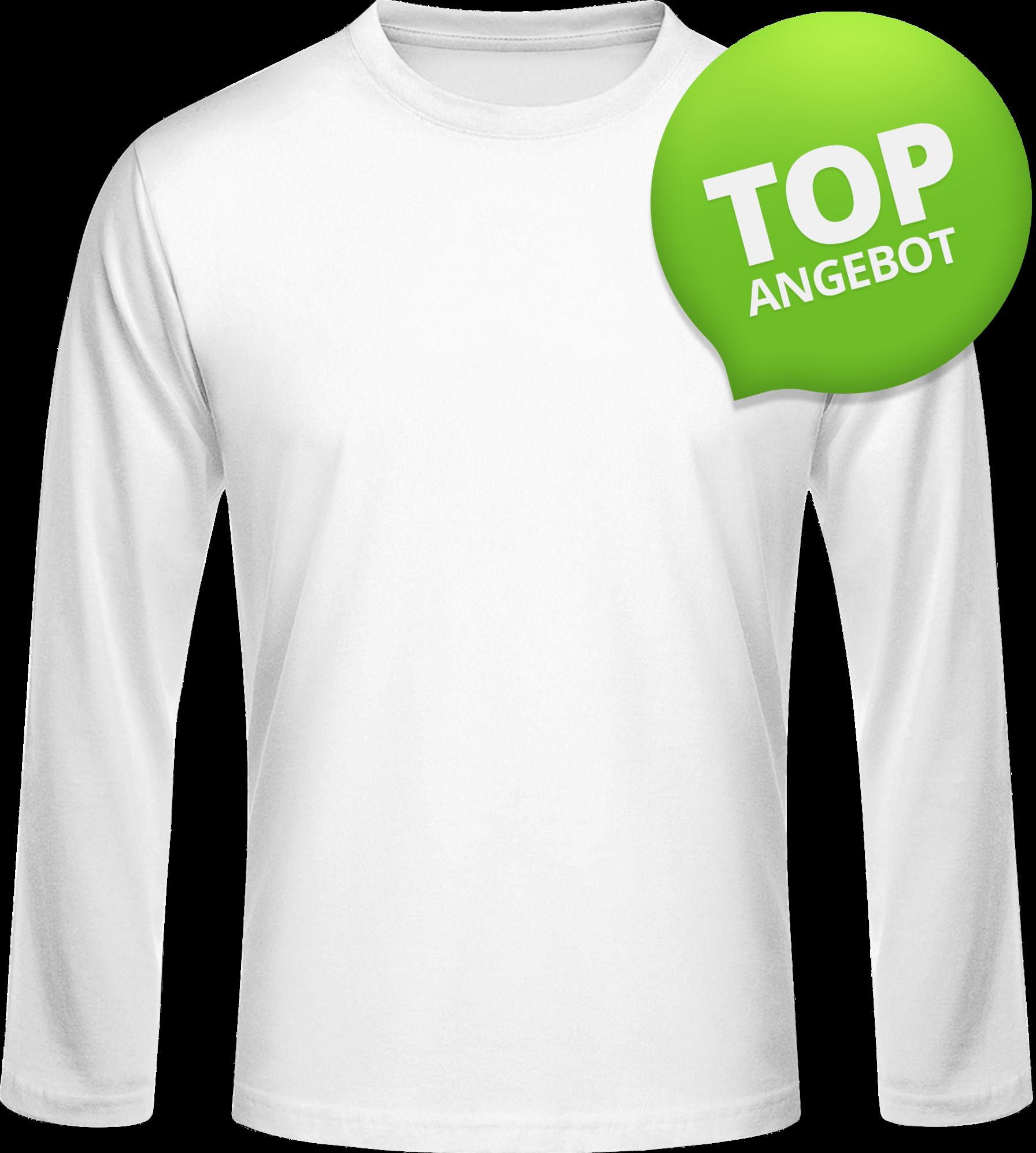 Weiß Lange Ärmel T-shirt
