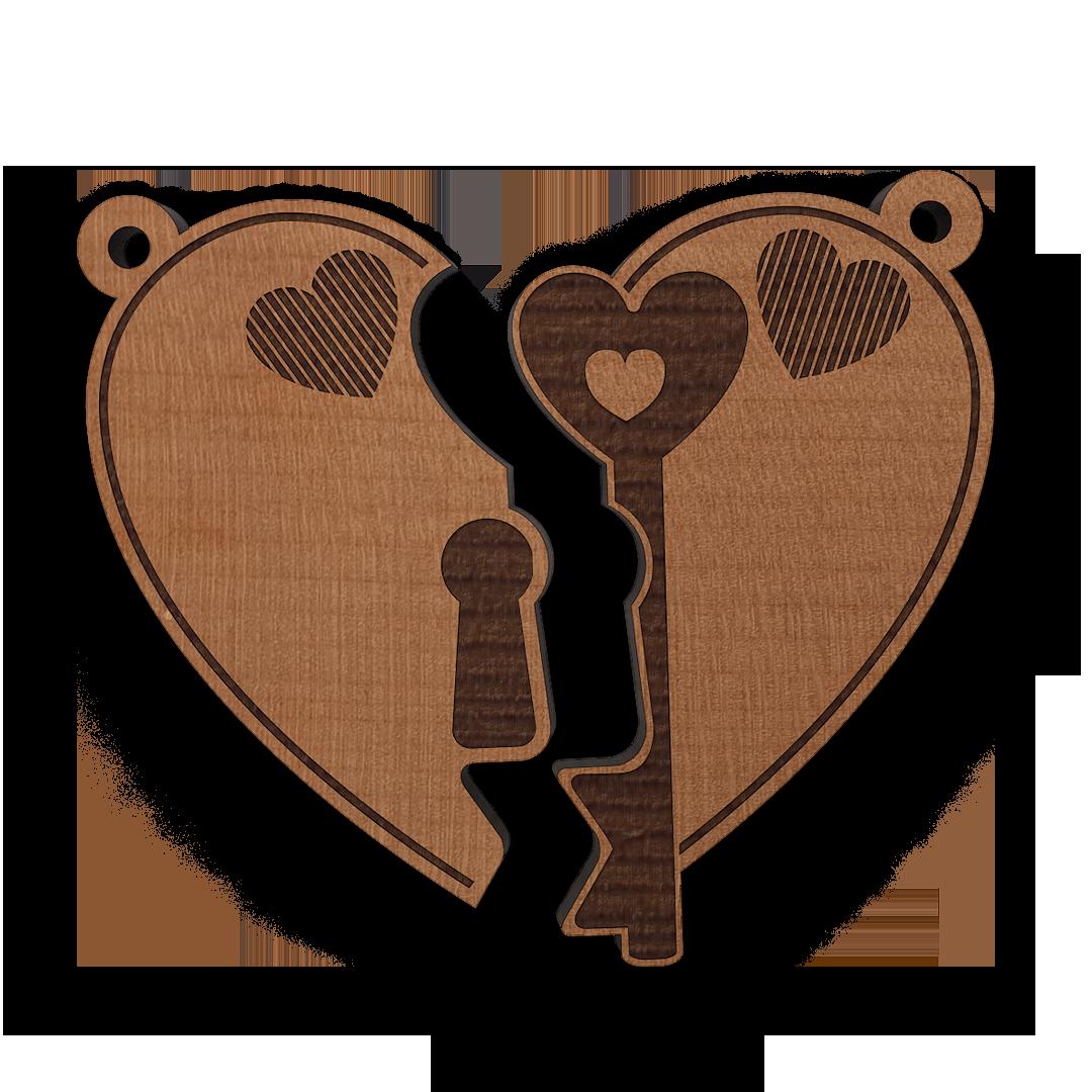 Schlüsselanhänger Herzschloss 2teilig