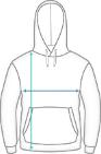 Premium Fleece Hoodie Dimensions