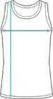 Tanktop Trikot aus Mesh Dimensions