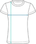Premium T-Shirt Run Damen Dimensions