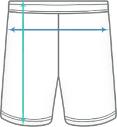 Basic Performance Shorts Dimensions