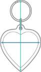 Hartvormige Sleutelhanger Afmetingen<
