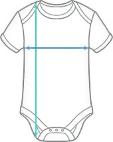 Organic Baby Bodysuit Maattabel<
